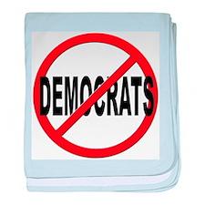 Anti / No Democrats baby blanket