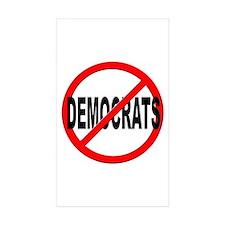 Anti / No Democrats Decal