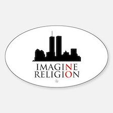 Imagine No Religion Sticker (Oval)
