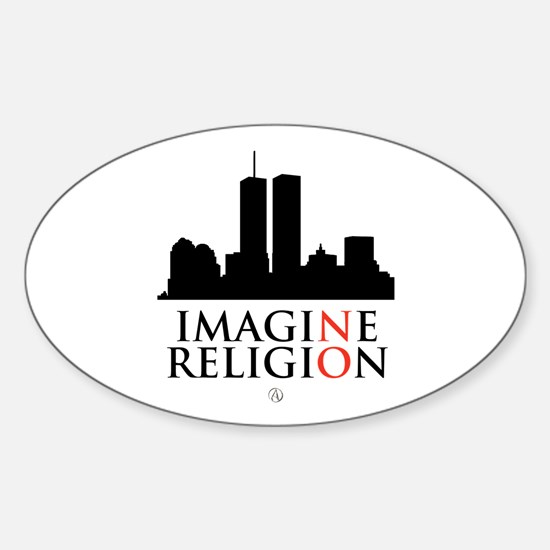 Imagine No Religion Sticker (Oval)