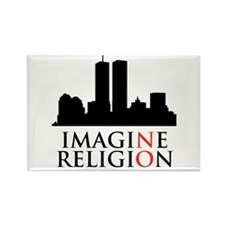 Imagine No Religion Rectangle Magnet (100 pack)