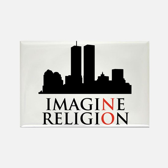 Imagine No Religion Rectangle Magnet (10 pack)