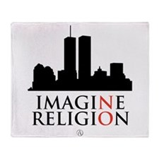 Imagine No Religion Throw Blanket