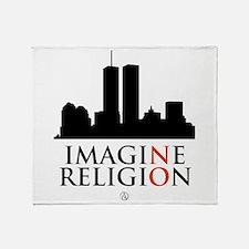 Imagine No Religion Throw Blanket