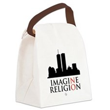 Imagine No Religion Canvas Lunch Bag