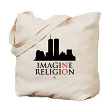 Imagine No Religion Tote Bag
