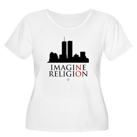 Imagine No Religion Women's Plus Size Scoop Neck T