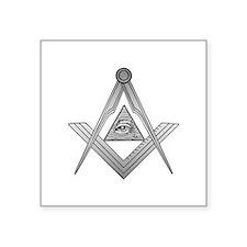 """Mason Illuminati Square Sticker 3"""" x 3"""""""