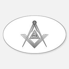 Mason Illuminati Sticker (Oval)