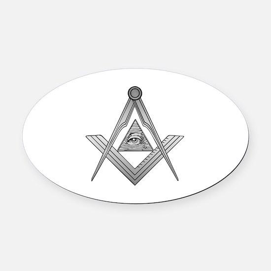 Mason Illuminati Oval Car Magnet