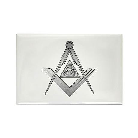 Mason Illuminati Rectangle Magnet (10 pack)