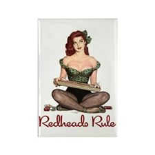 Redheads Rule Rectangle Magnet