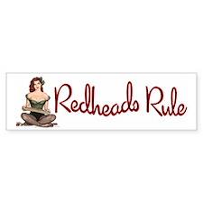 Redheads Rule Bumper Bumper Sticker