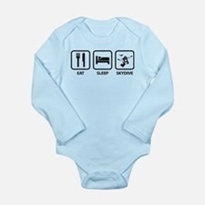 Eat Sleep Skydive Long Sleeve Infant Bodysuit