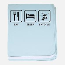 Eat Sleep Skydive baby blanket