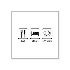"Eat Sleep Skydive Square Sticker 3"" x 3"""