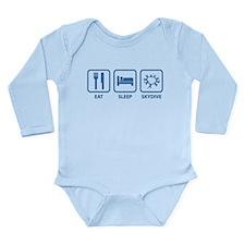 Eat Sleep Skydive Long Sleeve Infant Bodysuit