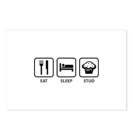 Eat Sleep Stud Postcards (Package of 8)