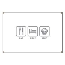 Eat Sleep Stud Banner