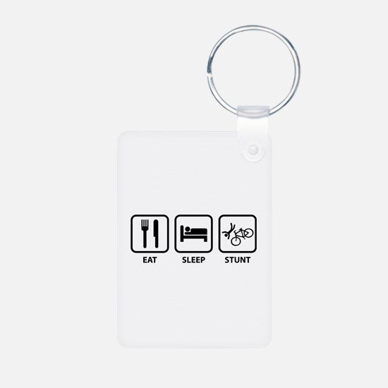Eat Sleep Stunt Keychains