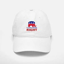 Romney Always right.png Baseball Baseball Cap