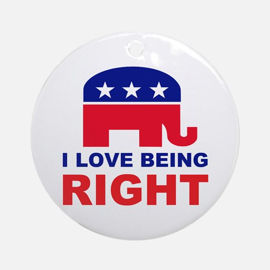 Romney Always right.png Ornament (Round)