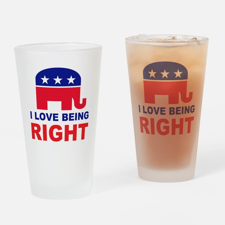 Romney Always right.png Drinking Glass