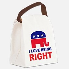 Romney Always right.png Canvas Lunch Bag
