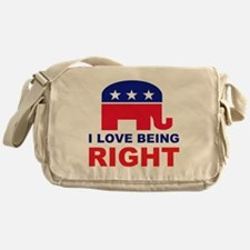 Romney Always right.png Messenger Bag