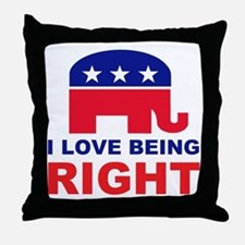 Romney Always right.png Throw Pillow