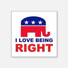 "Romney Always right.png Square Sticker 3"" x 3"""