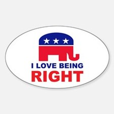 Romney Always right.png Sticker (Oval)