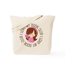 I Love Book Club Reading Tote Bag