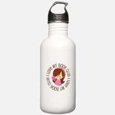 I Love Book Club Reading Water Bottle