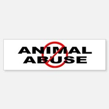 Anti / No Animal Abuse Sticker (Bumper)