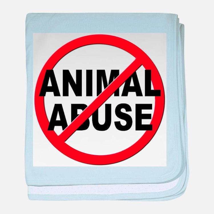 Anti / No Animal Abuse baby blanket