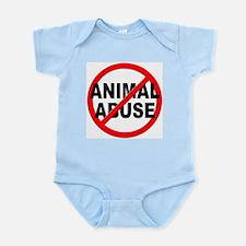 Anti / No Animal Abuse Infant Bodysuit