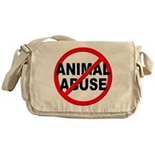 Anti / No Animal Abuse Messenger Bag