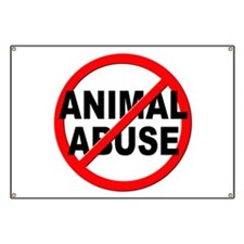 Anti / No Animal Abuse Banner