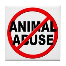 Anti / No Animal Abuse Tile Coaster