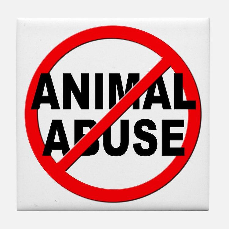 Anti / No Animal Abuse Tile Coaster