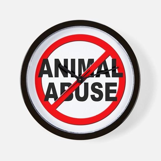 Anti / No Animal Abuse Wall Clock