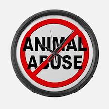 Anti / No Animal Abuse Large Wall Clock