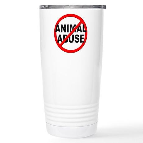 Anti / No Animal Abuse Stainless Steel Travel Mug