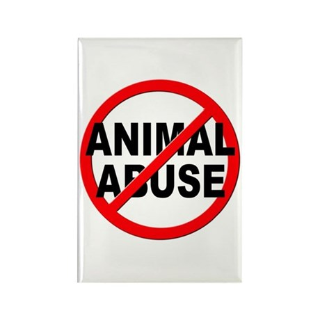 Anti / No Animal Abuse Rectangle Magnet (10 pack)