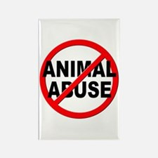 Anti / No Animal Abuse Rectangle Magnet (100 pack)