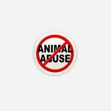 Anti / No Animal Abuse Mini Button