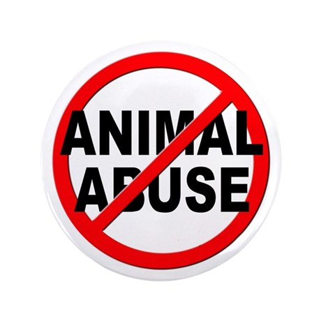 """Anti / No Animal Abuse 3.5"""" Button (100 pack)"""
