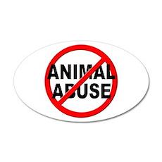 Anti / No Animal Abuse Wall Decal