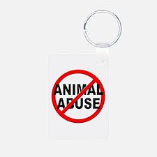 Anti / No Animal Abuse Keychains